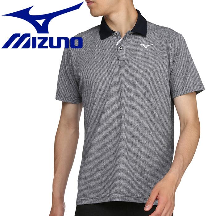 ミズノ ゴルフ ドライエアロフロー半袖シャツ ポロ衿 メンズ 52MA900514