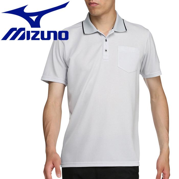 ミズノ ゴルフ アイスタッチシャンブレー半袖シャツ ポロ衿 メンズ 52MA901403