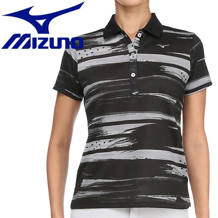 ミズノ ゴルフ グラフィック半袖ポロシャツ レディース 52MA920109
