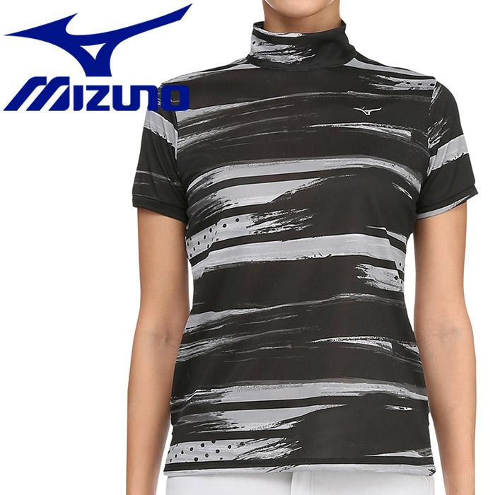 ミズノ ゴルフ グラフィック半袖ハイネックシャツ レディース 52MA920609