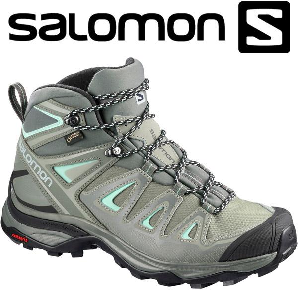 サロモン X ULTRA 3 WIDE MID GTX W ハイキング&マルチファンクション シューズ レディース L40133100
