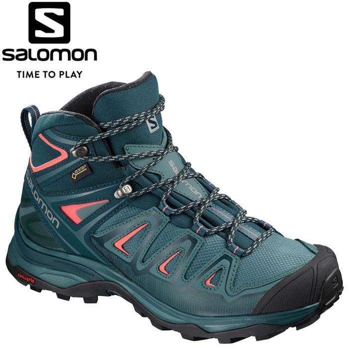 サロモン X ULTRA 3 MID GORE-TEX W トレッキングシューズ レディース L40475500