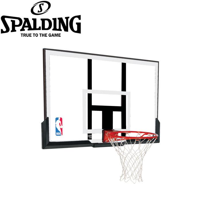 【メーカー直送5月29日発送可能】 スポルディング バスケットゴール NBAアクリルコンボ NBAロゴ入り 79836CN