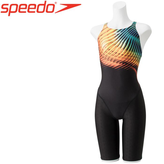 スピード 水泳 フレックスシグマウィメンズセミオープンバックニースキンVI 競泳 水着 レディース SCW11952F-OR 《返品不可》