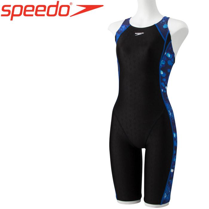 スピード 水泳 サーフェスシャインサイドプリントニースキン 水着 レディース SFW11961-BL 《返品不可》