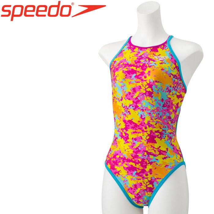 スピード 水泳 リバーシブルターンズスーツ 競泳 水着 レディース STW01911-PY 《返品不可》