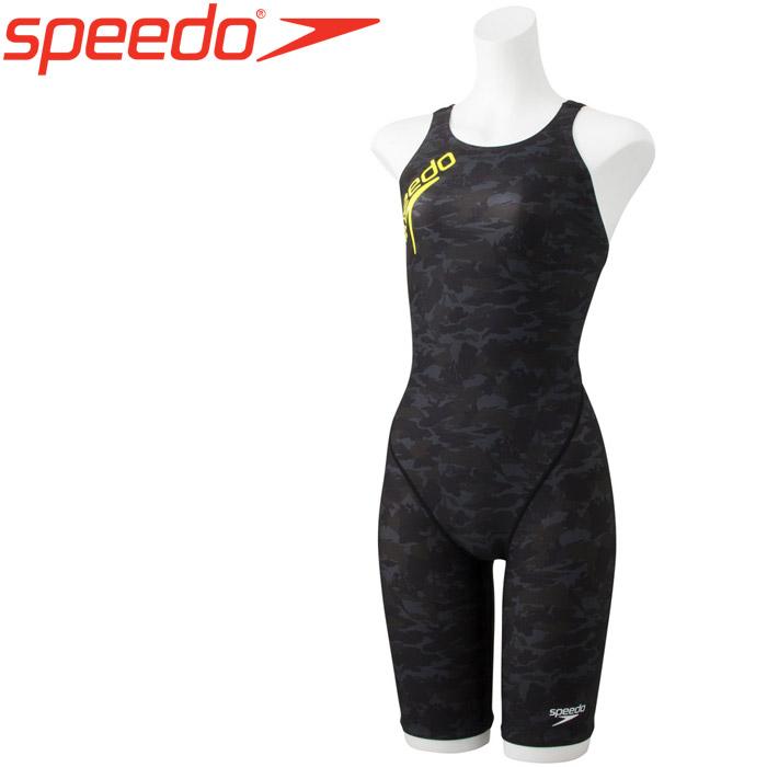 スピード 水泳 シャドーカモターンズニースキン 競泳 水着 レディース STW11913-KK 《返品不可》