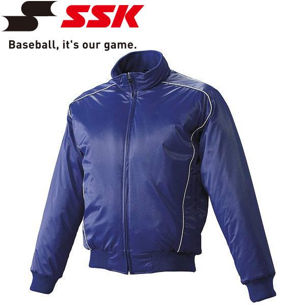 エスエスケイ SSK 野球 蓄熱グラウンドコート フロントフルZIP 中綿 ジュニア BWG1002J-7010w