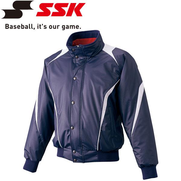 エスエスケイ SSK 野球 蓄熱グラウンドコート フロントフルZIP+ボタン比翼付き 中綿 メンズ・ユニセックス BWG1007-7095