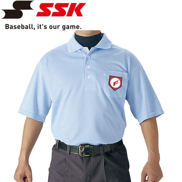 2枚までメール便送料無料 エスエスケイ 時間指定不可 SSK 野球 誕生日 お祝い 審判用半袖ポロシャツ UPW027-65