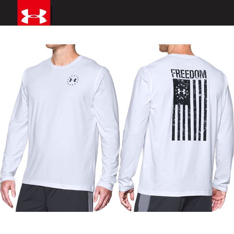 3a6dc767 Under Armour FREEDOM FLAG LS T 1,299,259-100 men's long sleeves T-shirt
