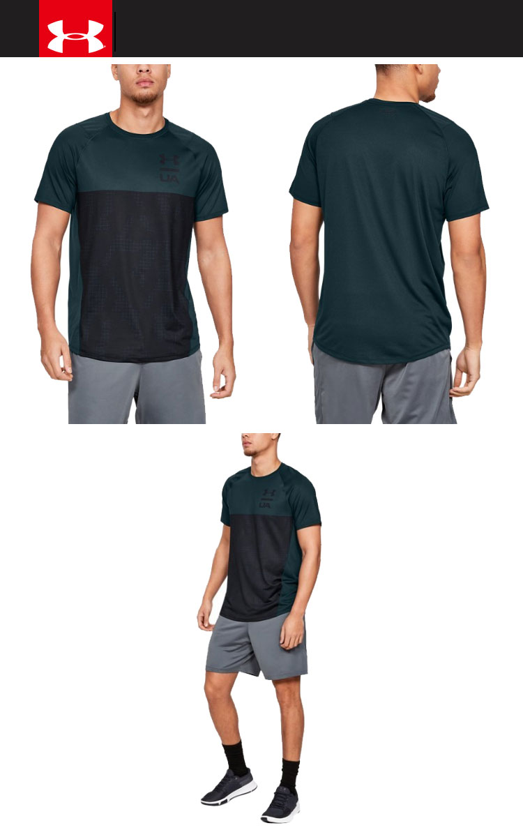1ab4924b8c Clearance sale 30%OFF! Under Armour T-shirt UA MK-1 color block 1327250  men's 19SS
