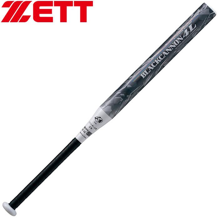 ゼット FRPカーボン製バット ブラックキャノン-4L 78cm 2号ゴムボール対応 ソフトボール BCT52878-1900