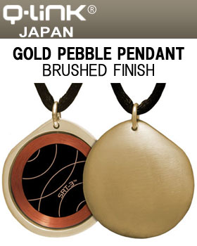 Q-Link(キューリンク) Gold Pebble(ペブル) ペンダント ゴールド ブラッシュ 日本正規品