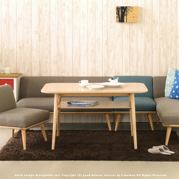 Dining Table Set Bench Sofa 4 Piece Solid Material Low Slung Chair Nordic Simple Interior Bedding Storage