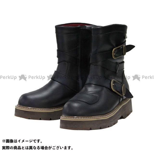 ロッソスタイルラボ RossoStyleLab ライディングブーツ バイクシューズ ブーツ お気にいる 無料雑誌付き 防水 ブラック ライディングハイソールブーツ ROB-202 5%OFF サイズ:25.0cm