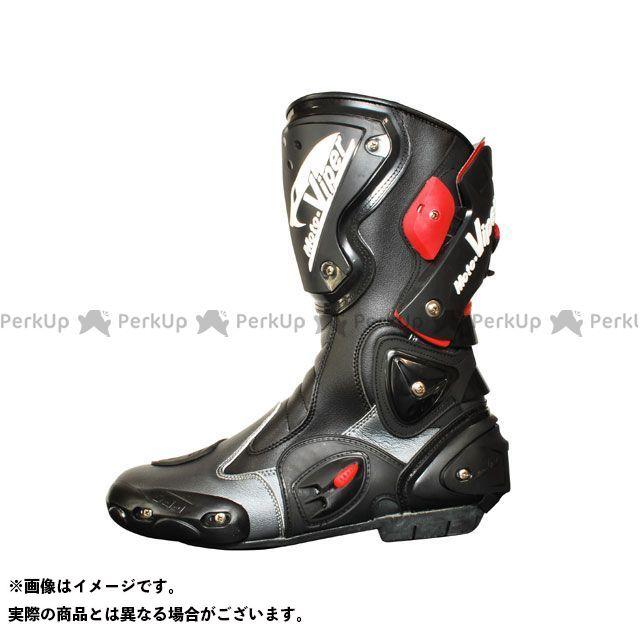 送料無料 moto-VIPER モトバイパー ライディングブーツ 2016-2017秋冬モデル MV-811 RACING BOOTS ガンメタル 41/25.5cm