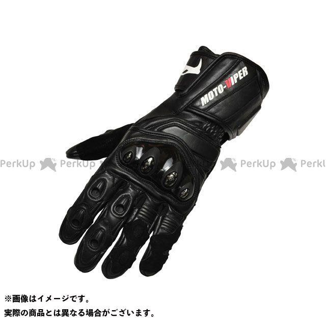 【エントリーで更にP5倍】moto-VIPER MV-711 レーシンググローブ カラー:ブラック サイズ:L モトバイパー