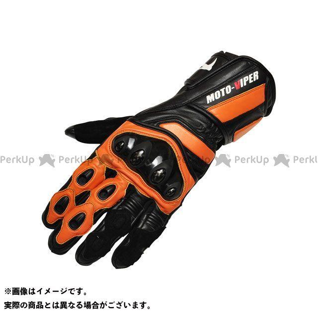 【エントリーで更にP5倍】moto-VIPER MV-711 レーシンググローブ カラー:オレンジ×ブラック サイズ:3L モトバイパー