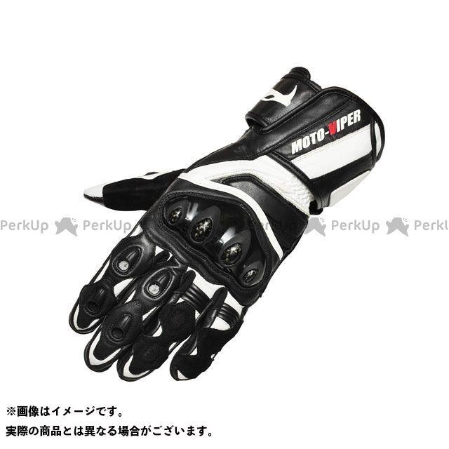 【エントリーで更にP5倍】moto-VIPER MV-711 レーシンググローブ カラー:ホワイト×ブラック サイズ:L モトバイパー