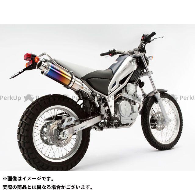 ビームス トリッカー XG250 SS300 アップタイプ フルエキゾーストマフラー サイレンサー:チタン BEAMS