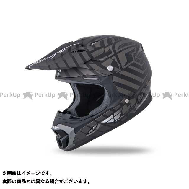 FLYRacing THREE・4ヘルメット ブラック/チャコール M フライレーシング