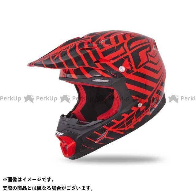 FLYRacing THREE・4ヘルメット レッド/ブラック L フライレーシング