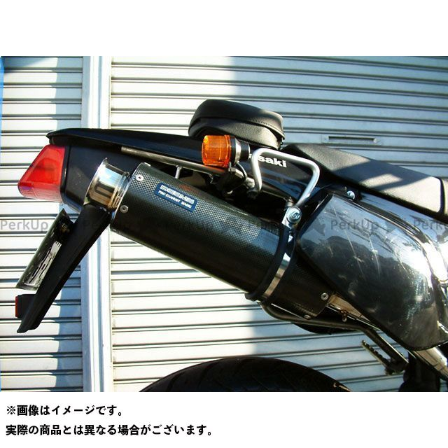 ビームス Dトラッカー KLX250 SS300 アップタイプ スリップオンマフラー カーボン