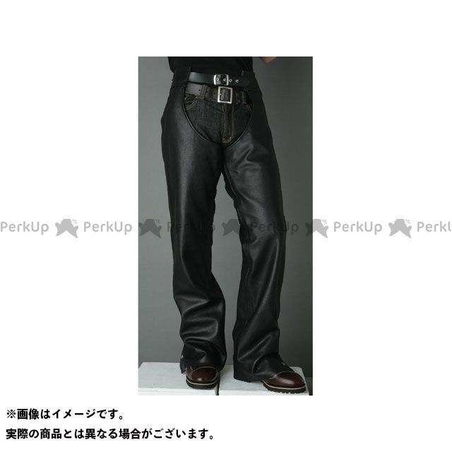 【エントリーで最大P21倍】DEGNER CH-2A レザーチャップス(ブラック) サイズ:L DEGNER