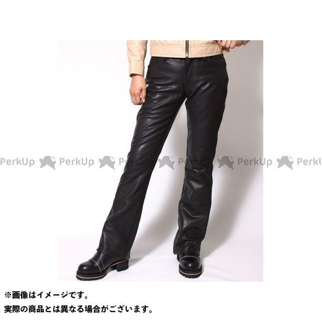 送料無料 DEGNER デグナー パンツ FRP-11A レディースレザーパンツ ブーツカット(ブラック) 25インチ