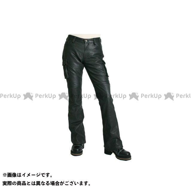 DEGNER 【特価品】 FRP-19A レディースレザーカーゴパンツ(ブラック) サイズ:M DEGNER