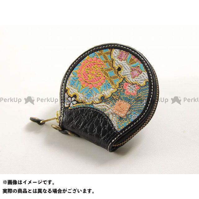 DEGNER 花山 W-70K コインケース 柄:都桜 カラー:ブラック メーカー在庫あり デグナー