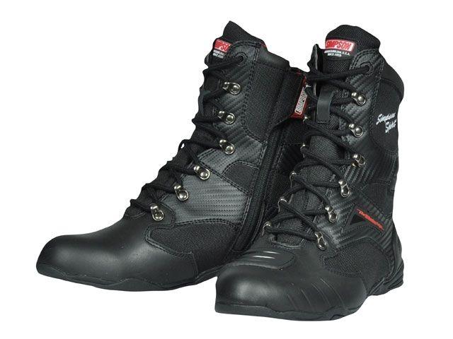 送料無料 シンプソン SIMPSON ライディングブーツ SPB-201 Riding Boots ブラック 28.0cm