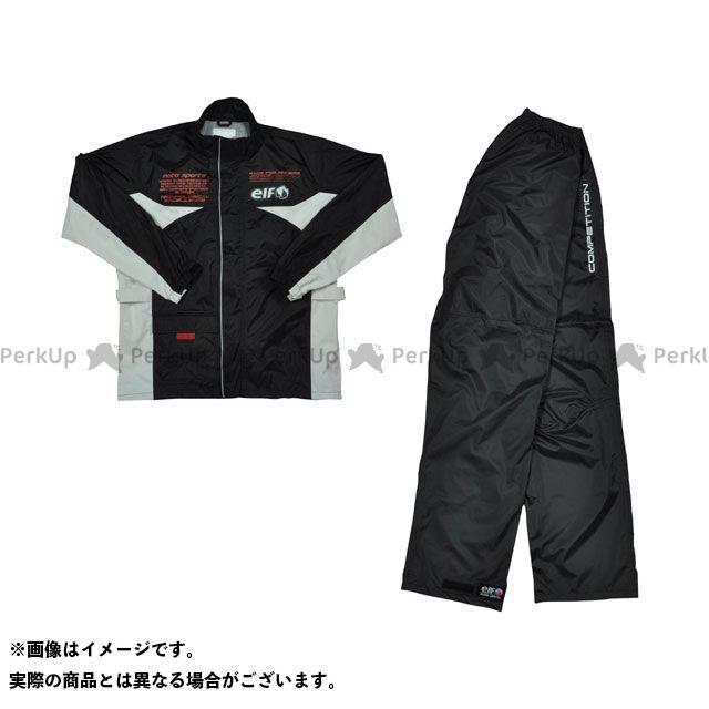 送料無料 elf riding wear エルフ ライディングウェア レインウェア ELR-3291 Rain Suit ブラック 4L