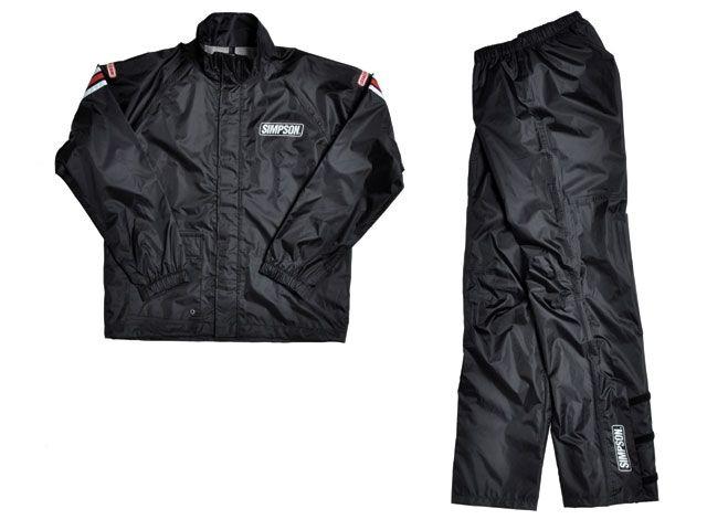 送料無料 シンプソン SIMPSON レインウェア SRS-4191 Rain Suit ブラック&ブラック 3L