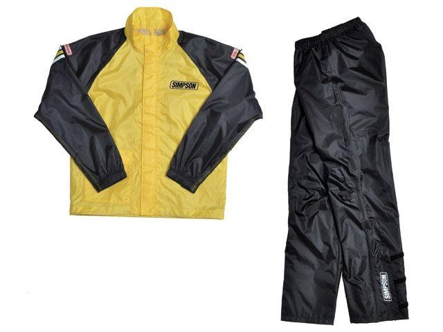 送料無料 シンプソン SIMPSON レインウェア SRS-4191 Rain Suit イエロー&ブラック 3L
