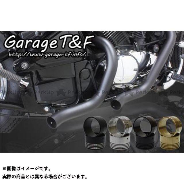 ガレージT&F ターンアウトマフラー(ブラック) タイプ:エンド付き(ブラック) ガレージティーアンドエフ