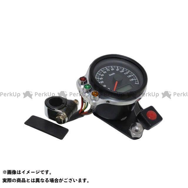 ガレージT&F ドラッグスター1100(DS11) ドラッグスタークラシック1100(DSC11) ミニスピードメーター(ブラック)&インジケーターセット(ポリッシュ) ハンドルクランプ仕様 ガレージティーアンドエフ