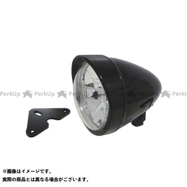 ガレージT&F グラストラッカー グラストラッカービッグボーイ 5.75インチロケットライト(ブラック)&ライトステー(タイプF) キット ガレージティーアンドエフ