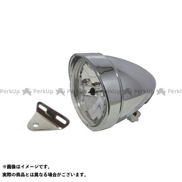 ガレージT&F シャドウスラッシャー 5.75インチロケットライト(メッキ)&ライトステー(タイプA) キット ガレージティーアンドエフ