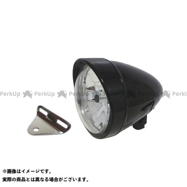 ガレージT&F バルカン400 バルカン400-2 5.75インチロケットライト(ブラック)&ライトステー(タイプA) キット ガレージティーアンドエフ