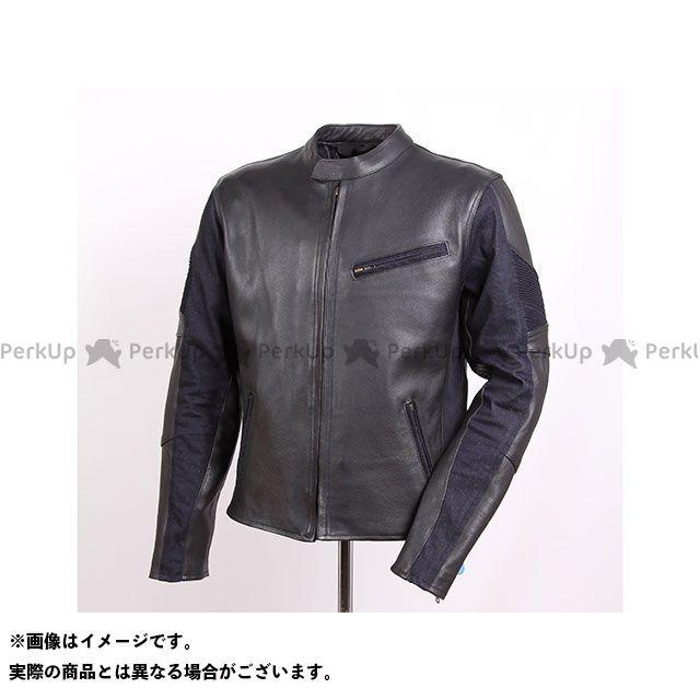 デグナー トラスト DEGNER ジャケット 再入荷/予約販売! バイクウェア 特価品 レザーデニムコンビジャケット サイズ:S ネイビー 18WJ-11