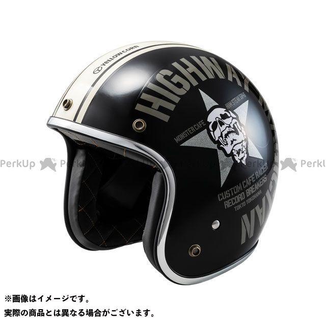 送料無料 イエローコーン YeLLOW CORN ジェットヘルメット 2018-2019秋冬モデル YBJH-003 ヘルメット(ブラック)