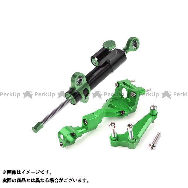 エートップ Z250 Z250 ステアリングダンパーキット アルミ削りだし CNC加工(グリーン)  ATop