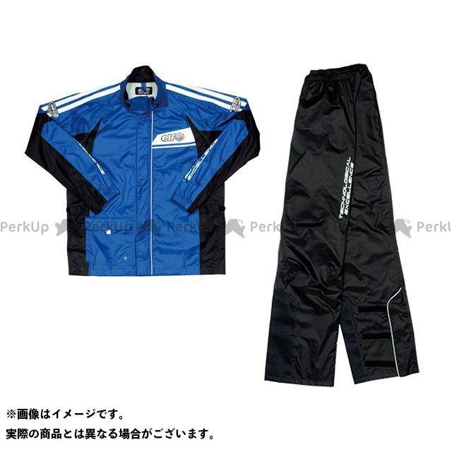 送料無料 elf riding wear エルフ ライディングウェア レインウェア ELR-5291 Rain Suit(ブラック) ブルー M