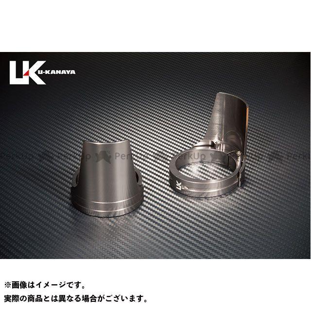 ユーカナヤ ZRX1200 ZRX1200ダエグ アルミビレットフォークガード(リングカラー:チタン) ガード部:チタン U-KANAYA