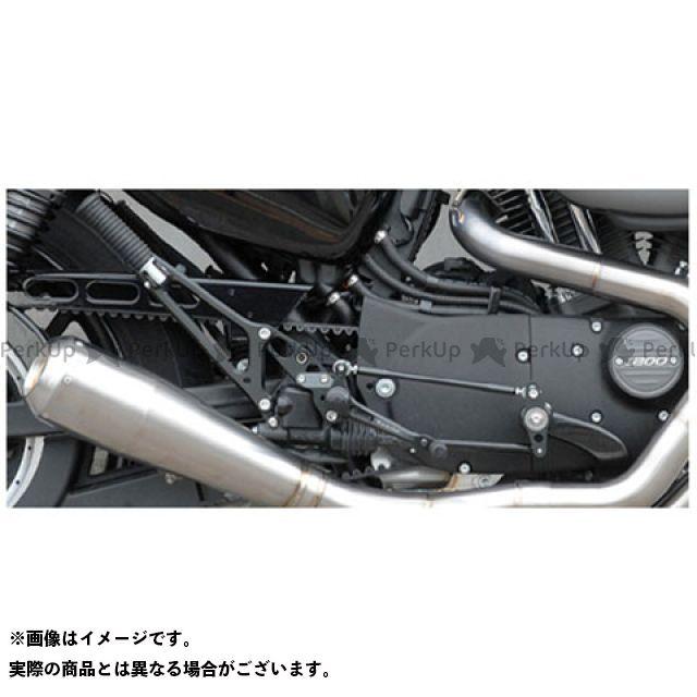 トランプ スポーツスターファミリー汎用 TB-057B バックステップキット(14年~スポーツスター) ブラック Tramp Cycle