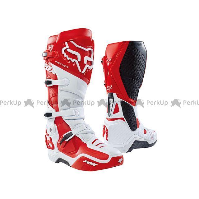 送料無料 FOX フォックス オフロードブーツ インスティンクト 2.0 ブーツ(ホワイト/レッド) 11/27.5cm