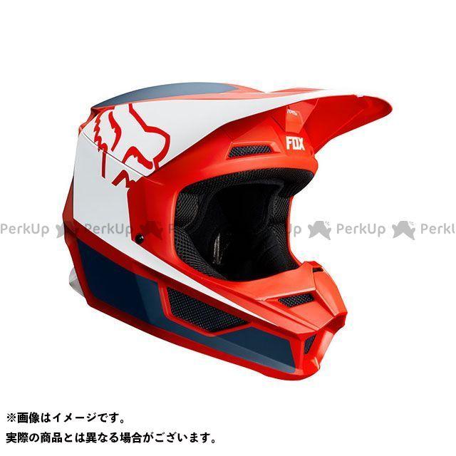 FOX フォックス V1 プリズム ヘルメット(ネイビー/レッド) S/55-56cm