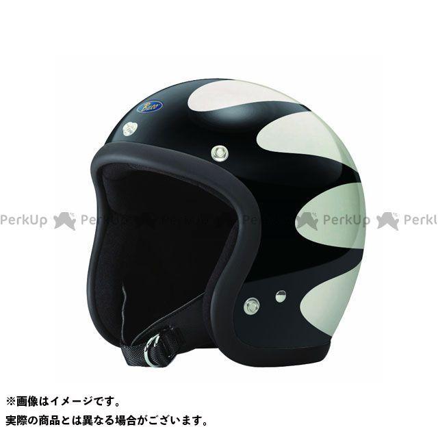 ブコ BUCO ジェットヘルメット 本日の目玉 ヘルメット スタンダード NEW ARRIVAL スキャロップ ホワイト サイズ:SM ブラック